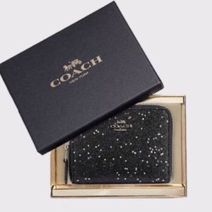 NWT Coach Boxed Small Wallet Star Glitter